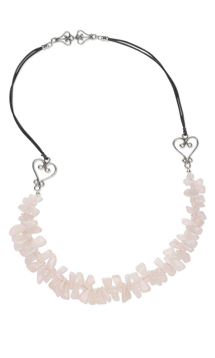 heart to heart rose quartz extra large hawaiian chip bead necklace jewelrymaking heart to heartnecklace ideasrose quartzjewelry designjewelry - Jewelry Design Ideas