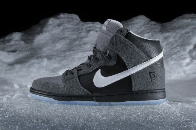 Premier x Nike SB Dunk Hi – Black / Grey – White