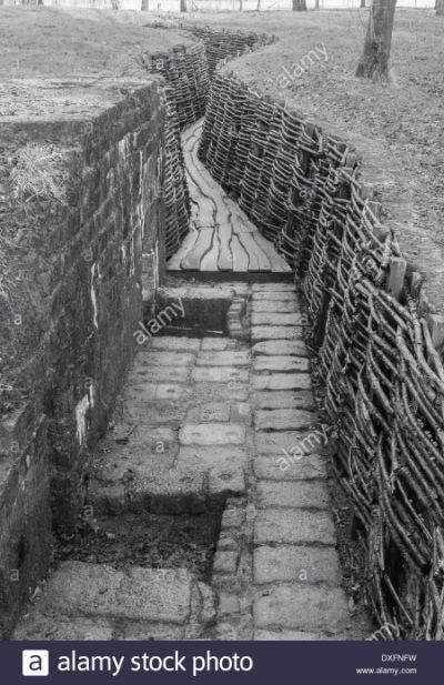 Restored German WW1 trenches at | ww 1 trench warfare ...