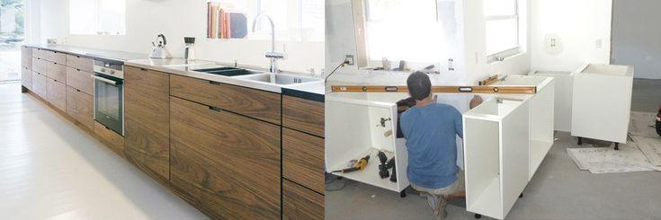 oud hout   keukenbladen | Ikea Keuken Kookeiland : Houten keukenfronten maatwerk lades en deuren ...