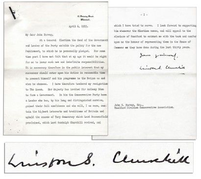 Winston Churchill's resignation letter up for auction at $10,000
