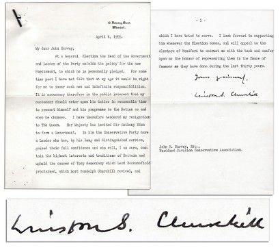 Winston Churchillu0027s resignation letter up for auction at $10,000 - nixon resignation letter
