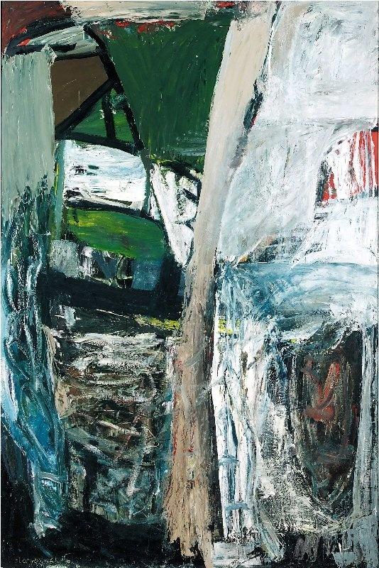 PETER LANYON - SANDBAR, 1956  oil on masonite