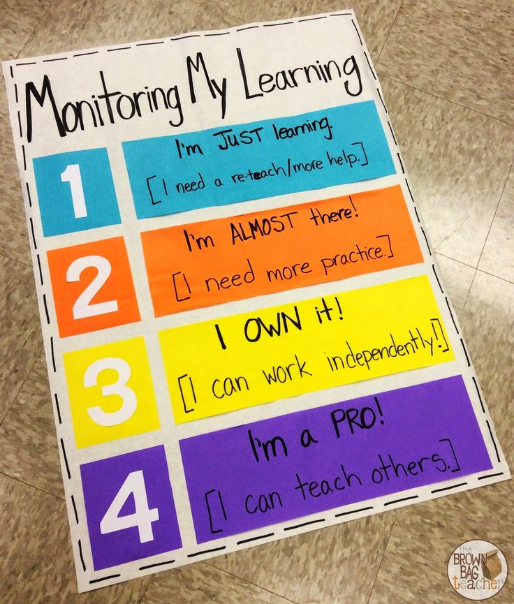 Students Monitoring Their Own Learning