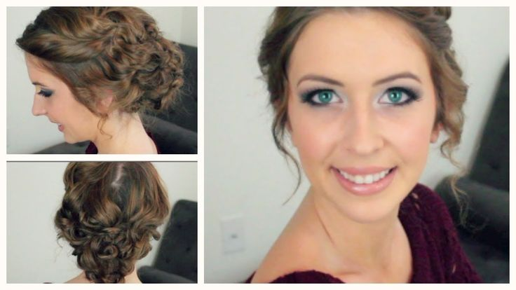Quick and easy curly updo. This is a video hair tutorial!