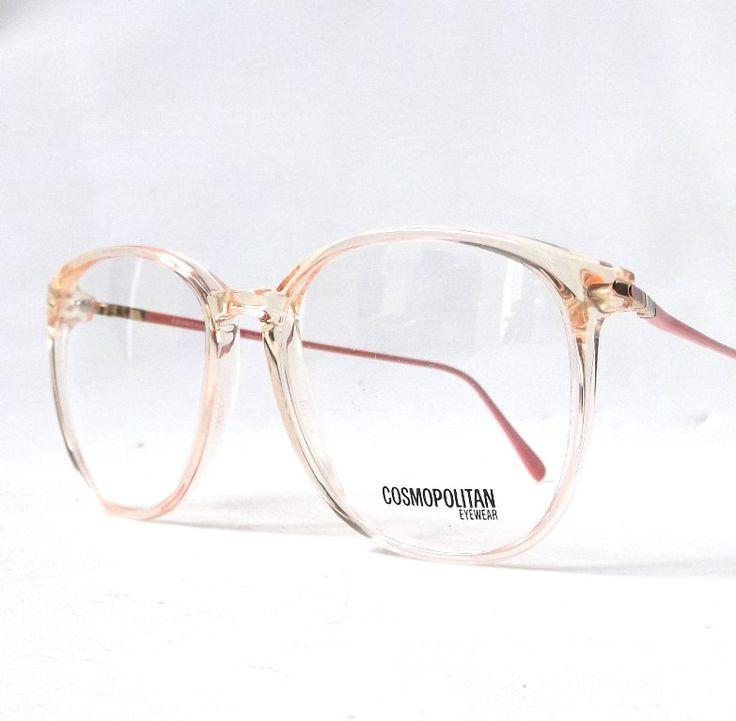 vintage 1980's NOS cosmopolitan round eyeglasses pink plastic frames metal arms prescription lenses eye glasses retro modern womens fashion by RecycleBuyVintage on Etsy