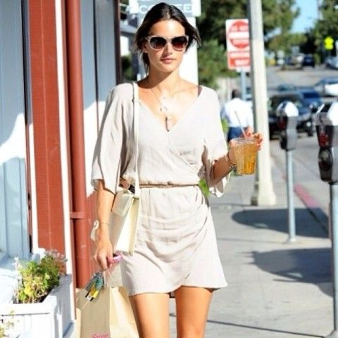 Wrap Over Dress | Spotted on alessandraambrosio