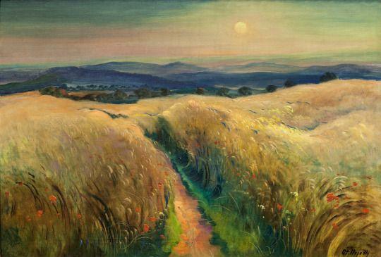 Summer Landscape by Otakar Nejedlý (Czech, 1883–1957)