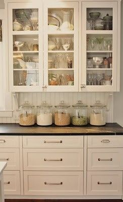 I love the large glass jars... perhaps I should switch from my stainless ones?