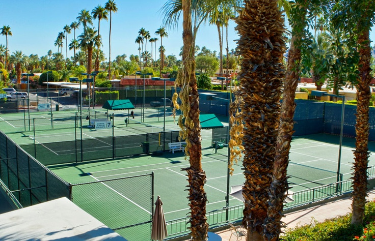 Tennis Courts at the Palm Springs Tennis Club Resort, played here once :)