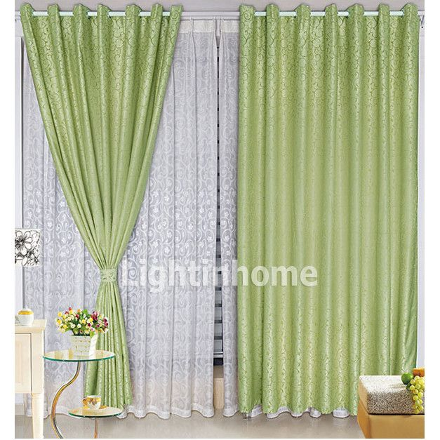 Unique overstock print patterned light green modern for Green modern curtains