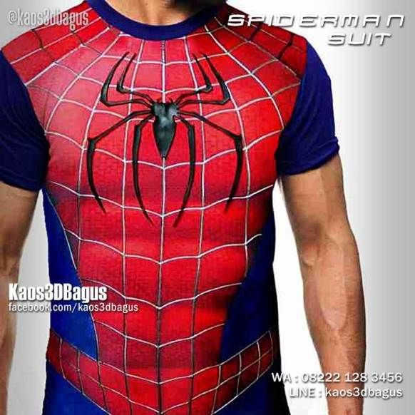Kaos SPIDERMAN SUIT, Kaos Kostum Spiderman, Kaos Superhero, Kaos3D, https://kaos3dbagus.wordpress.com, WA : 08222 128 3456, LINE : Kaos3DBagus
