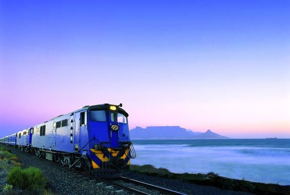 Blue Train, South Africa - stopping off for wine tasting at Stellenbosch