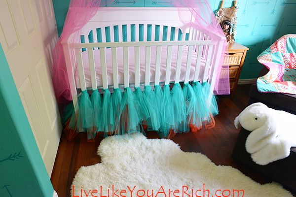 How to Make a Ballerina Tulle Crib Skirt | Live Like You Are Rich
