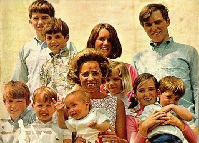 Ethel Kennedy with her 10 children (except Courtney)