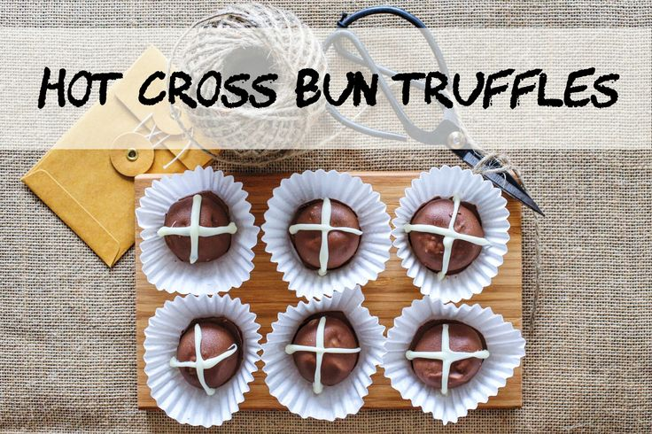 Hot Cross Bun Truffles. An easy-to-make Easter recipe that everyone will love.