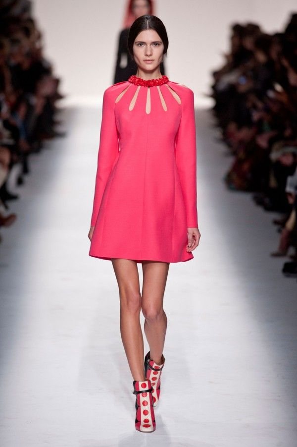 Valentino pink short dress with cutouts