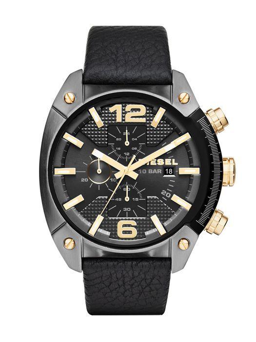 Diesel DZ4375 Overflow Chronograph Black Leather Men's Watch