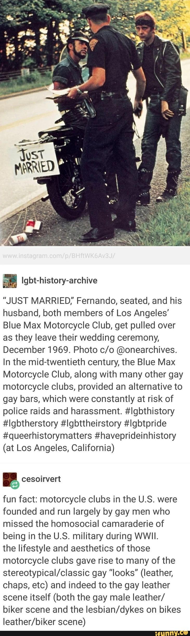 I didn't know this! LGBTQ+ history of motorcycle clubs run by gay men!