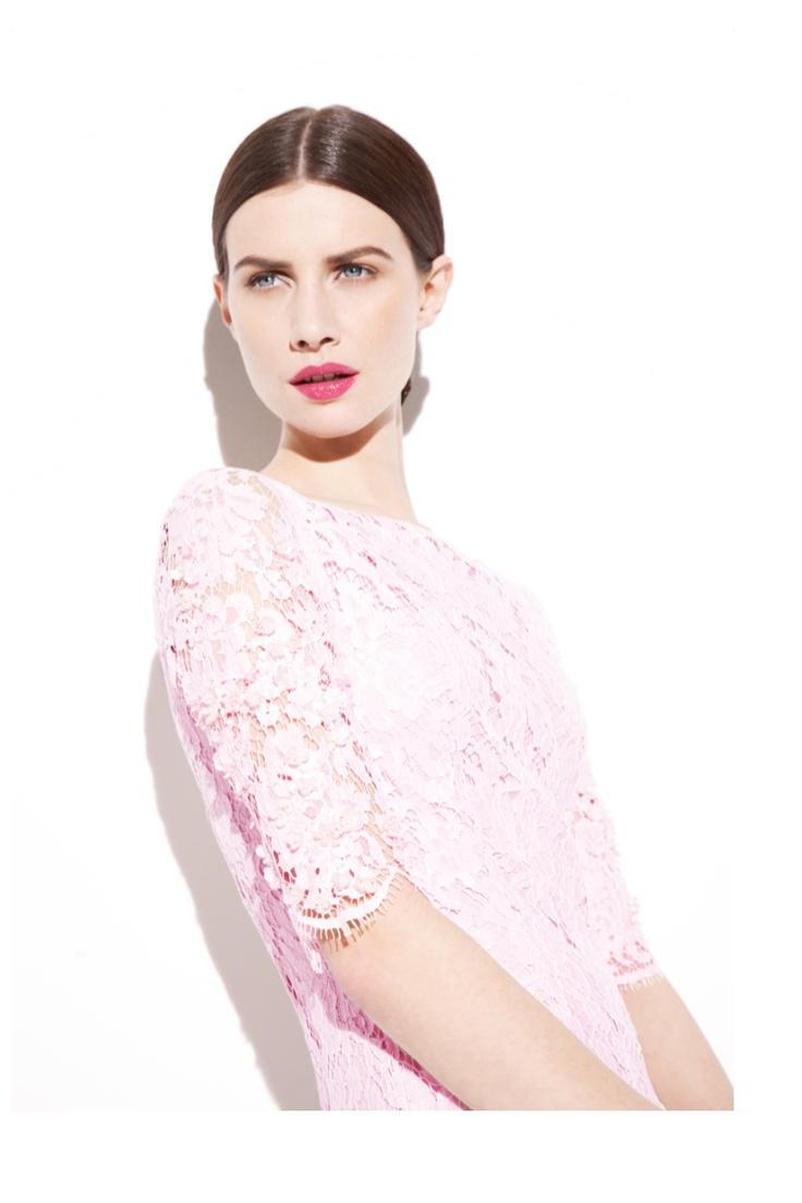 Faye Orchid Pink Lace Dress