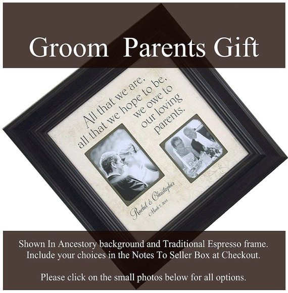 Wedding Gift From Groom To Father In Law : Father of the Groom Gift Parent Wedding by PhotoFrameOriginals
