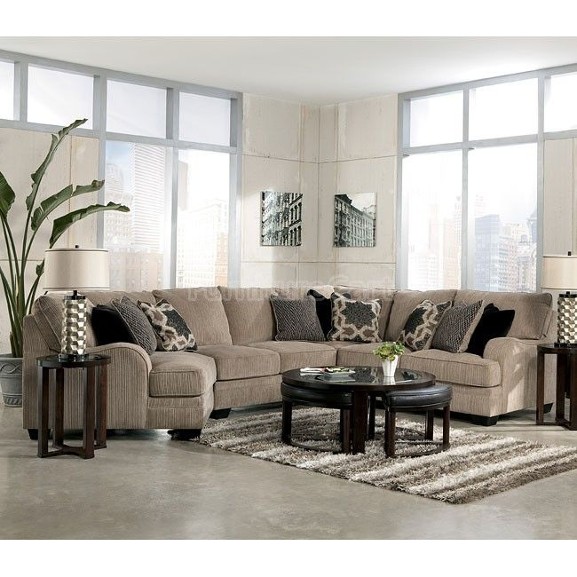 Modular Sectional Sofa Ashley: Katisha Platinum Cuddler Sectional Set (Modular) Signature