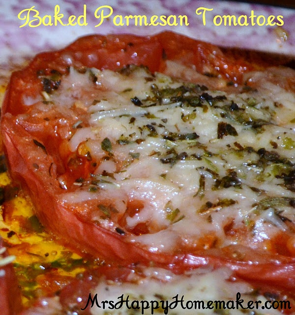 Baked Parmesan Tomatoes | Recipes | Pinterest
