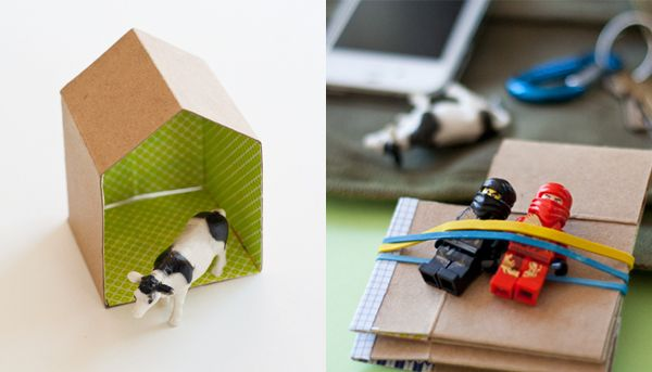 Diy mini cardboard house hellobee with template the possibilities