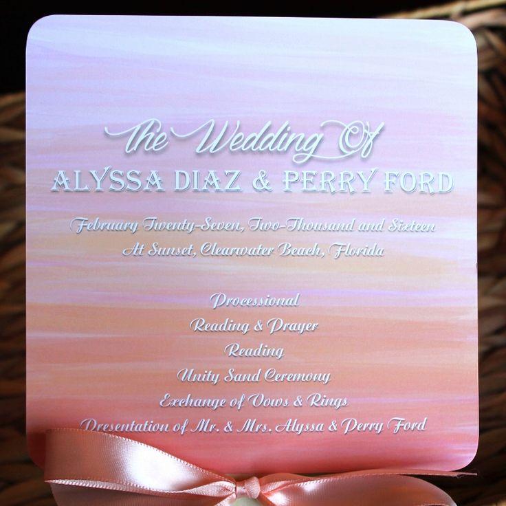 wedding invitations east london south africa%0A Sunset Wedding Fan Program