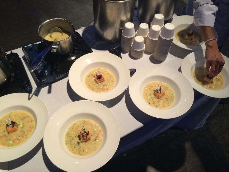 Assembled and ready! - At the 2014 Ocean Wise Chowder Chowdown