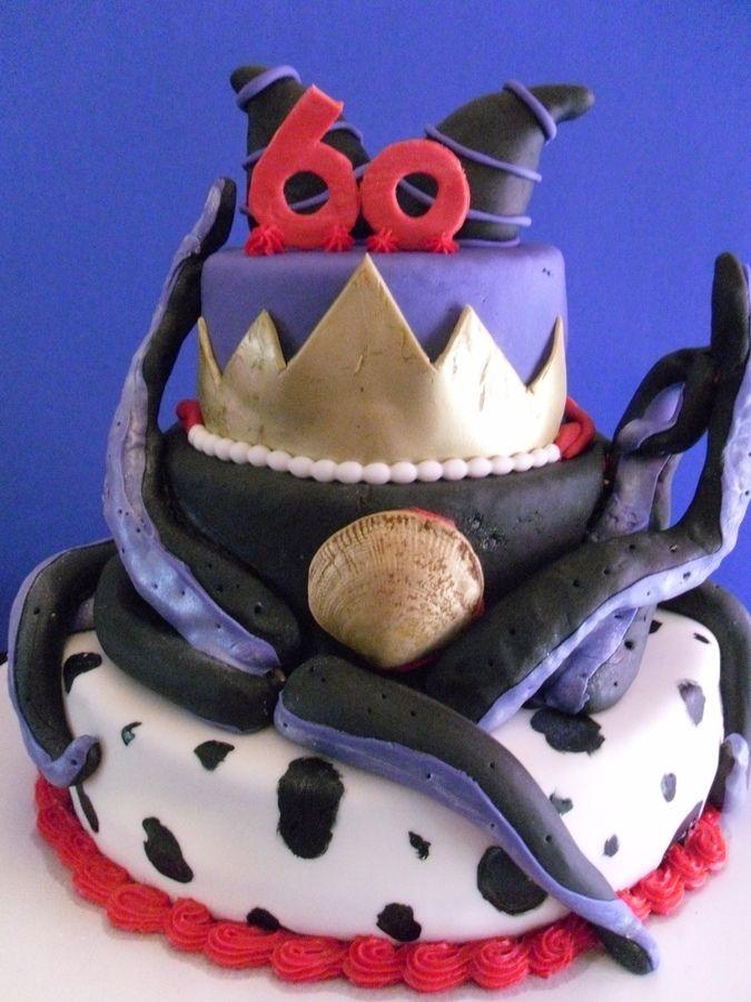 Disney Villain Cake Birthday Cakes Heroes Vs Villain