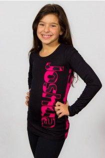 long sleeves black and hot pink Fashion Top Joshua Perets