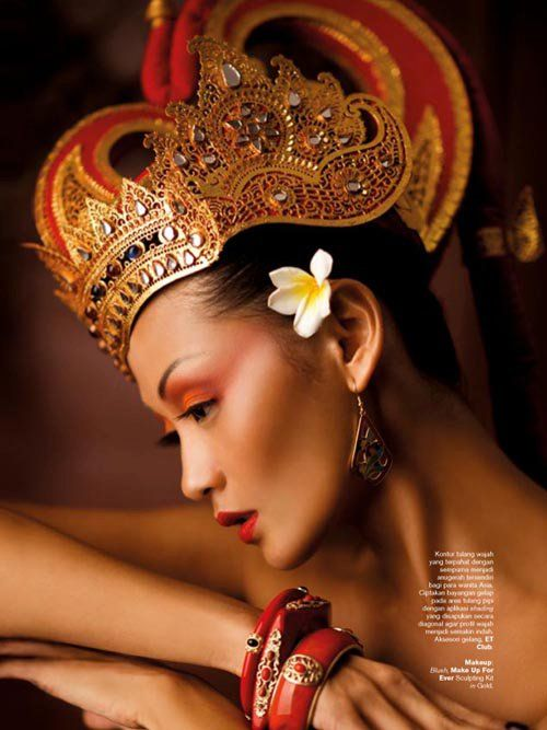 Indah Kalolo by Nicoline Patricia Malina for Harper's Bazaar Indonesia August 2011