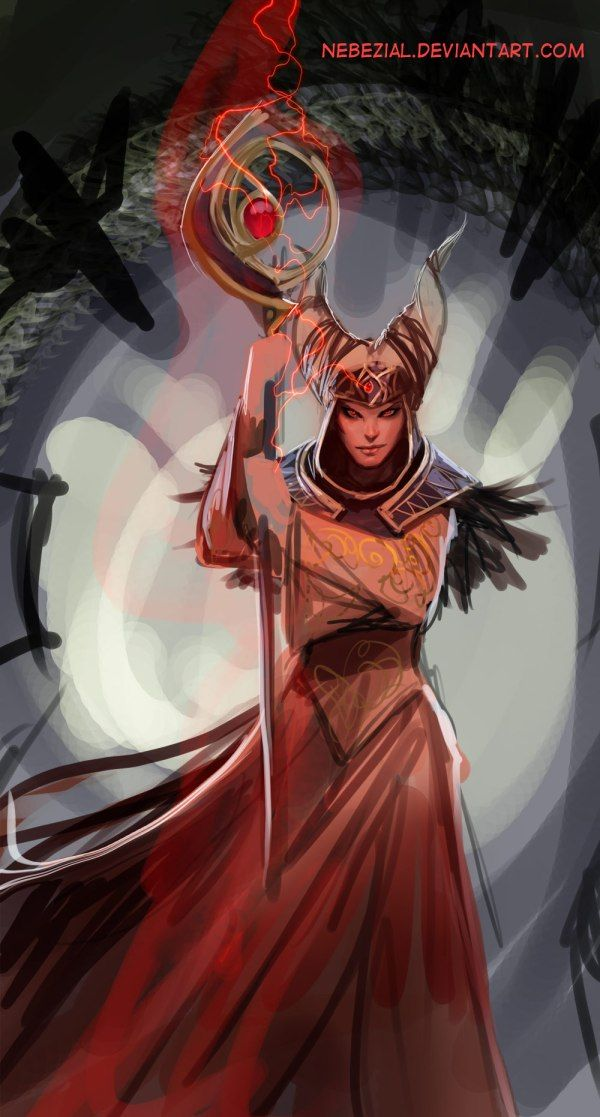 Rita Repulsa by nebezial - Witch Bandora - Mighty Morphin Power Rangers Art