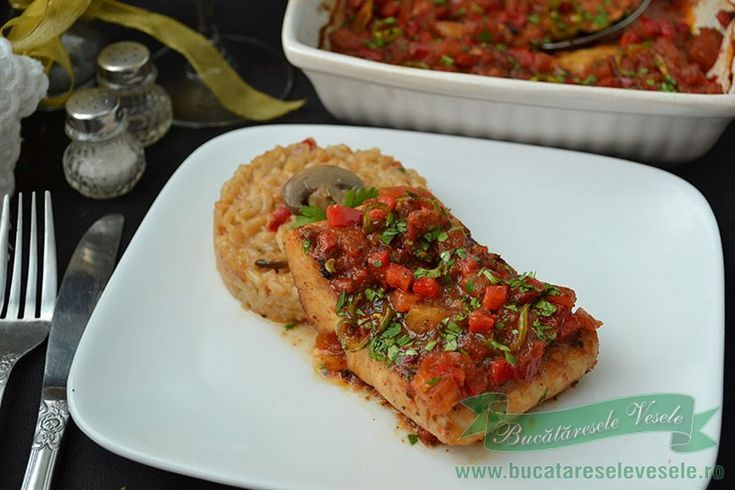 Reteta de Salau cu Legume la Cuptor, o reteta cu peste usor de pregatit care nu necesita mult timp si este un preparat delicios.