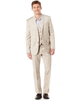 Bridesman-wear: Perry Ellis Big and Tall Suit Separates Just the pants and vest.