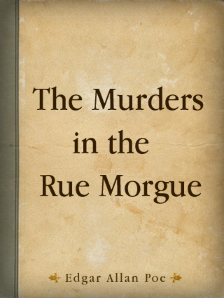 essay murders rue morgue