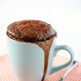 Chocolate Peanut Butter Mug Cake