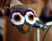BIKE FOX HANDWARMERS Gloves Wool Crochet Winter Cold Days Unisex Woman Man Teens Cozy Gift. $25.00, via Etsy.