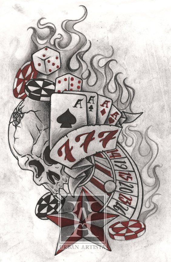 20 best and the stylish casino gambling tattoos