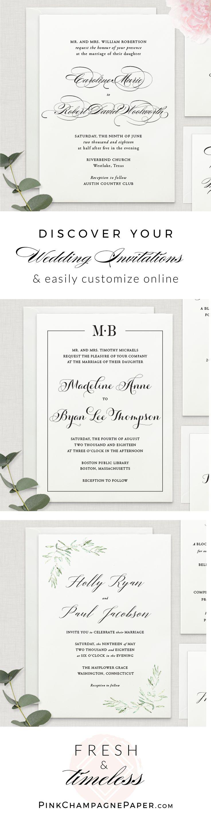 94 best Classic Wedding Invitations images on Pinterest   Classic ...