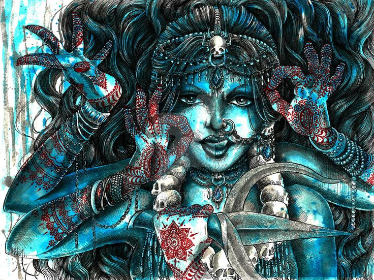 Goddess Kali 2 by MiaLaia