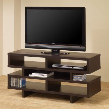 Coaster Cappuccino Organize TV Console for TVs up to 46 inch, Brown