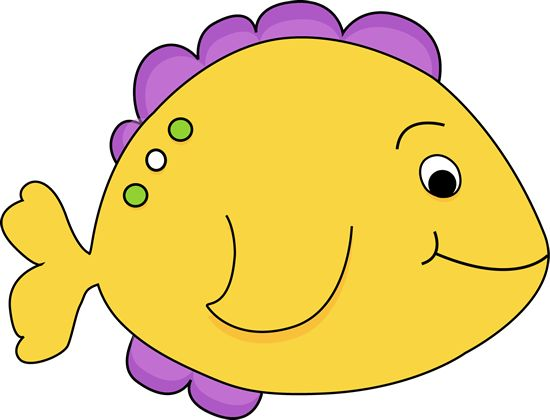 Purple Cartoon Fish Yellow Fish Clip Art Image Yellow