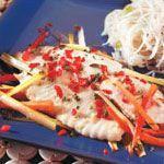 Filets de tilapia thaïlandais en papillote
