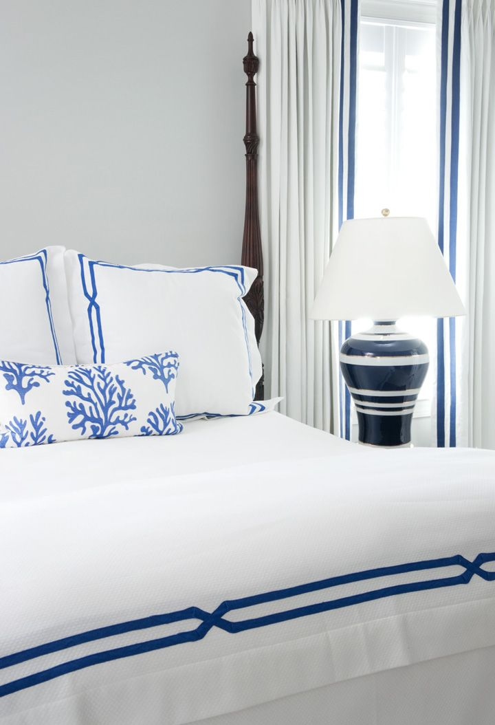 blue and white coastal bedroom liz carroll interiors