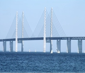 2000 - The Oresund Bridge  Official inauguration of the combined tunnel and bridge to Sweden called The Oresund Bridge (Øresundsbroen) with presence of the Danish Queen Margrethe II - and her Swedish counterpart King Carl XVI Gustaf. The total length of the connection across the Oresund strait is almost 15,5 km.