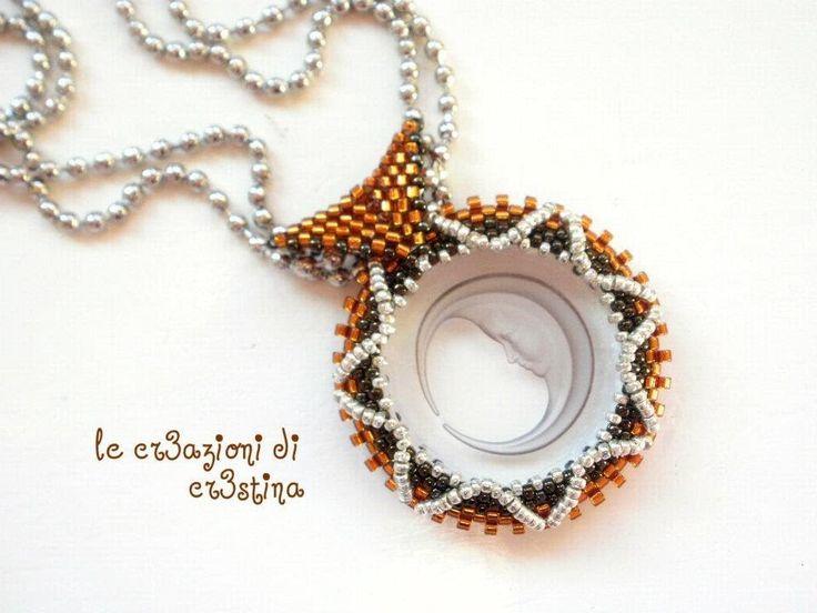 Tutorial contromaglia di perline - come creare un'asolina per ciondoli (...