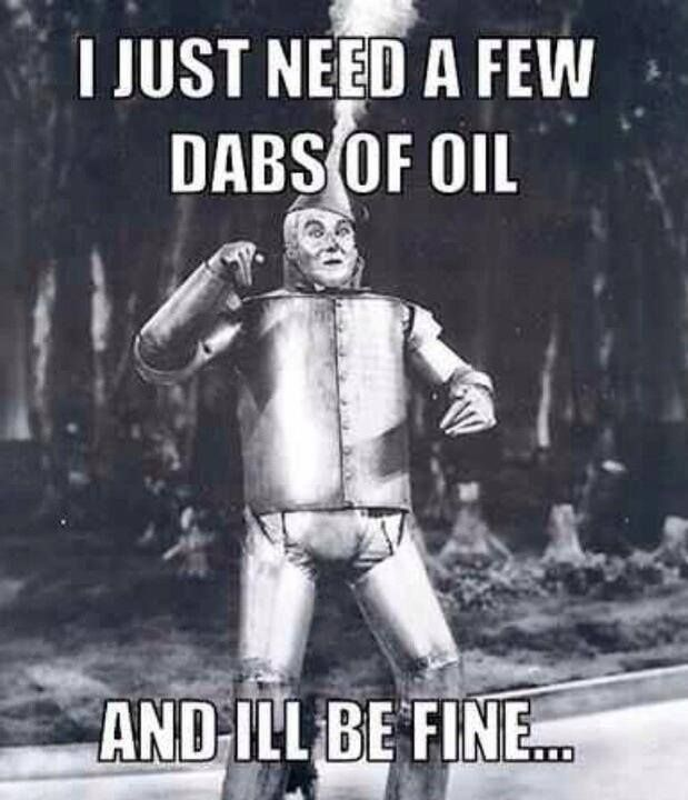 "tin man: ""I just need a few dabs of oil and I'll be fine""... living with lupus / lupie humor"
