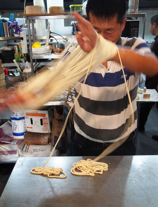 Sun's noodle-stretching technique has been used in China for millennia.